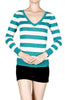 Striped Long Sleeve Knit Sweater - BodiLove | 30% Off First Order - 9