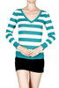 Striped Long Sleeve Knit Sweater - BodiLove | 30% Off First Order - 3