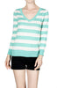 Striped Long Sleeve Knit Sweater - BodiLove | 30% Off First Order - 12