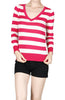 Striped Long Sleeve Knit Sweater - BodiLove | 30% Off First Order - 14