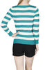 Striped Long Sleeve Knit Sweater - BodiLove | 30% Off First Order - 15