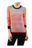 Striped Long Sleeve Knit Sweater - BodiLove | 30% Off First Order - 13 | Coral & Heather Gray