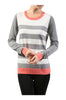 Striped Long Sleeve Knit Sweater - BodiLove | 30% Off First Order - 4