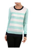 Striped Long Sleeve Knit Sweater - BodiLove | 30% Off First Order - 7 | Mint & Ivory
