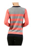 Striped Long Sleeve Knit Sweater | 30% Off First Order - 14 | Coral & Heather Gray