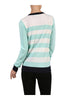 Striped Long Sleeve Knit Sweater - BodiLove | 30% Off First Order - 8 | Mint & Ivory