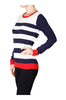 Striped Long Sleeve Knit Sweater - BodiLove | 30% Off First Order - 2