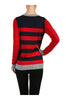 Striped Long Sleeve Knit Sweater - BodiLove | 30% Off First Order - 11 | Red & Navy