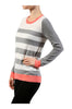 Striped Long Sleeve Knit Sweater - BodiLove | 30% Off First Order - 6