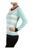 Striped Long Sleeve Knit Sweater - BodiLove | 30% Off First Order - 9 | Mint & Ivory