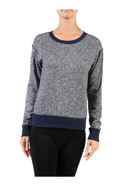 Long Sleeve Pull Over Crew Neck Sweatshirt - BodiLove | 30% Off First Order - 1 | Navy1