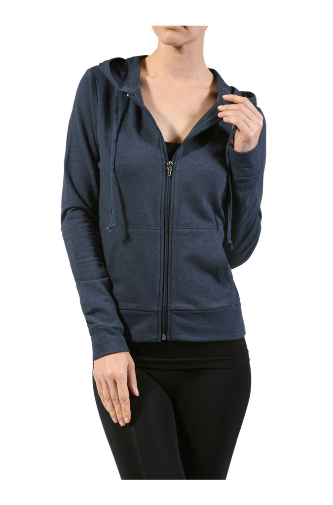 Long Sleeve Zip-Up Hooded Sweatshirt - BodiLove | 30% Off First Order  - 2
