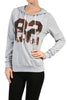 Long Sleeve Hooded Sweatshirt W/ Sequins - BodiLove | 30% Off First Order - 4