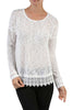 Long Sleeve Sweater With Sheer Lace Trim - BodiLove | 30% Off First Order  - 4