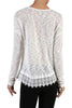 Long Sleeve Sweater With Sheer Lace Trim - BodiLove | 30% Off First Order  - 5