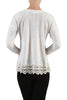 Long Sleeve Sweater With Sheer Lace Trim - BodiLove | 30% Off First Order - 11 | Ivory1