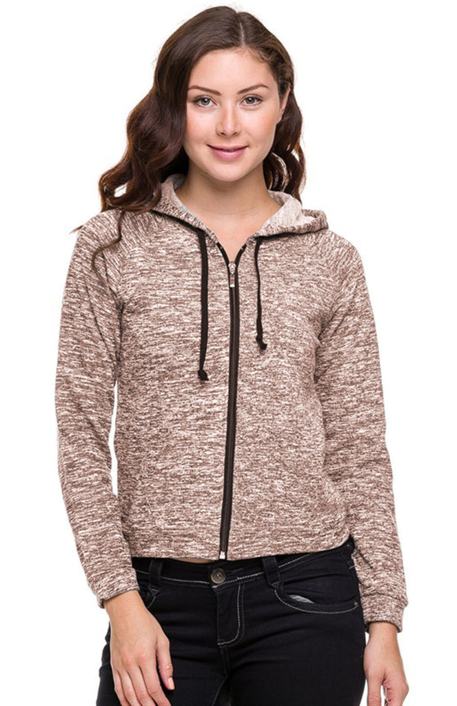 Long Sleeve Zip-Up Hooded Sweatshirt - BodiLove | 30% Off First Order  - 1