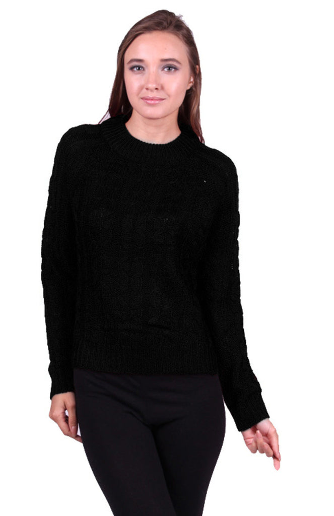 Long Sleeve Pull Over Cable Knit Sweater - BodiLove | 30% Off First Order  - 1