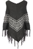 Trendy Cable Knit Pullover Poncho W/ Fringe Trim - BodiLove | 30% Off First Order - 13