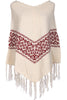 Trendy Cable Knit Pullover Poncho W/ Fringe Trim - BodiLove | 30% Off First Order - 1