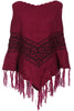 Trendy Cable Knit Pullover Poncho W/ Fringe Trim - BodiLove | 30% Off First Order - 17