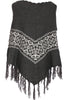 Trendy Cable Knit Pullover Poncho W/ Fringe Trim - BodiLove | 30% Off First Order - 14