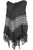 Trendy Cable Knit Pullover Poncho W/ Fringe Trim - BodiLove | 30% Off First Order - 15