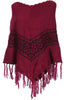 Trendy Cable Knit Pullover Poncho W/ Fringe Trim - BodiLove | 30% Off First Order - 19