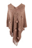 Pullover Knit Poncho With Fringe Trim - BodiLove | 30% Off First Order  - 7