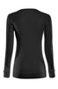 Long Sleeve Lightweight Crew Neck Sweatshirt | 30% Off First Order | Black