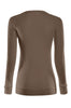 Long Sleeve Lightweight Crew Neck Sweatshirt | 30% Off First Order | Brown