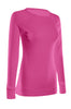 Long Sleeve Lightweight Crew Neck Sweatshirt | 30% Off First Order | Fuchsia