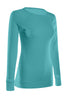 Long Sleeve Lightweight Crew Neck Sweatshirt | 30% Off First Order | Turquoise