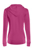 Drawstring Hooded Thermal Zip Up Sweater | 30% Off First Order | Fuchsia