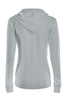 Drawstring Hooded Thermal Zip Up Sweater | 30% Off First Order | Heather Gray