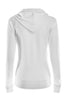 Drawstring Hooded Thermal Zip Up Sweater | 30% Off First Order | White