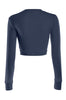 Cropped Long Sleeve Crew Neck Sweatshirt | 30% Off First Order | Navy