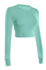 Cropped Long Sleeve Crew Neck Sweatshirt | 30% Off First Order | Mint