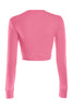 Cropped Long Sleeve Crew Neck Sweatshirt | 30% Off First Order | Coral