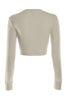 Cropped Long Sleeve Crew Neck Sweatshirt | 30% Off First Order | Oatmeal