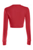 Cropped Long Sleeve Crew Neck Sweatshirt | 30% Off First Order | Red