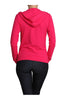 Long Sleeve Zip Up Hooded Sweatshirt | 30% Off First Order | Pink