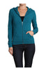 Long Sleeve Zip Up Hooded Sweatshirt | 30% Off First Order | Teal1