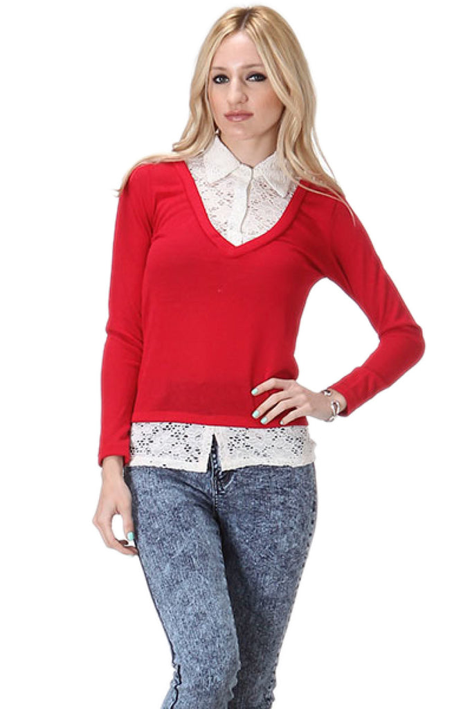 Long Sleeve Blouse & Cardigan Combo - BodiLove | 30% Off First Order  - 10