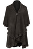 Oversize Shawl Collar Cape W/ Pom Pom Trim - BodiLove | 30% Off First Order - 5