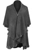 Oversize Shawl Collar Cape W/ Pom Pom Trim - BodiLove | 30% Off First Order - 17