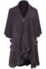 Oversize Shawl Collar Cape W/ Pom Pom Trim - BodiLove | 30% Off First Order - 13