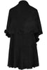 Oversize Shawl Collar Cape W/ Pom Pom Trim - BodiLove | 30% Off First Order - 2