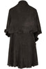 Oversize Shawl Collar Cape W/ Pom Pom Trim - BodiLove | 30% Off First Order - 6