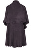 Oversize Shawl Collar Cape W/ Pom Pom Trim - BodiLove | 30% Off First Order - 14